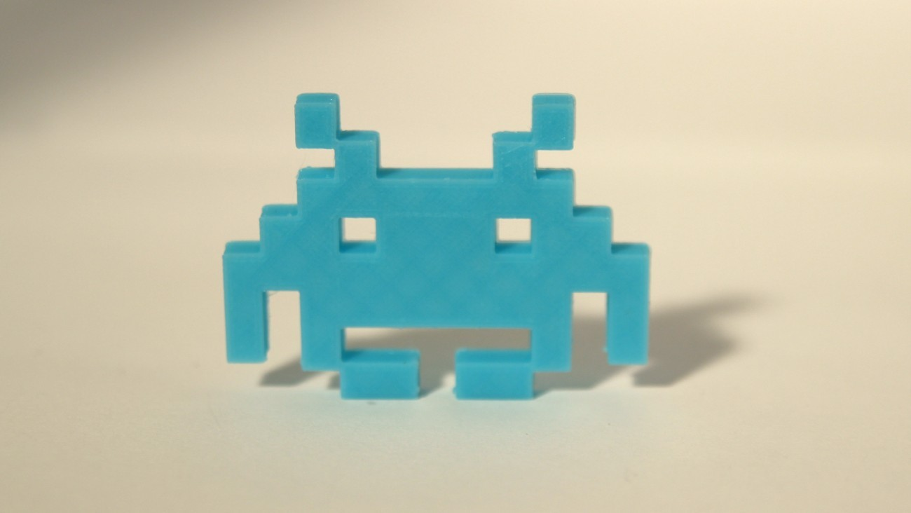 Magnet Invader 1.1 Bleu