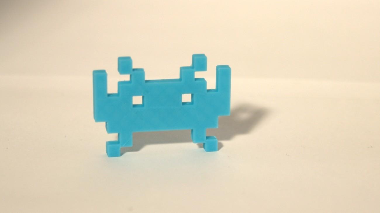 Magnet Invader 1.2 Bleu