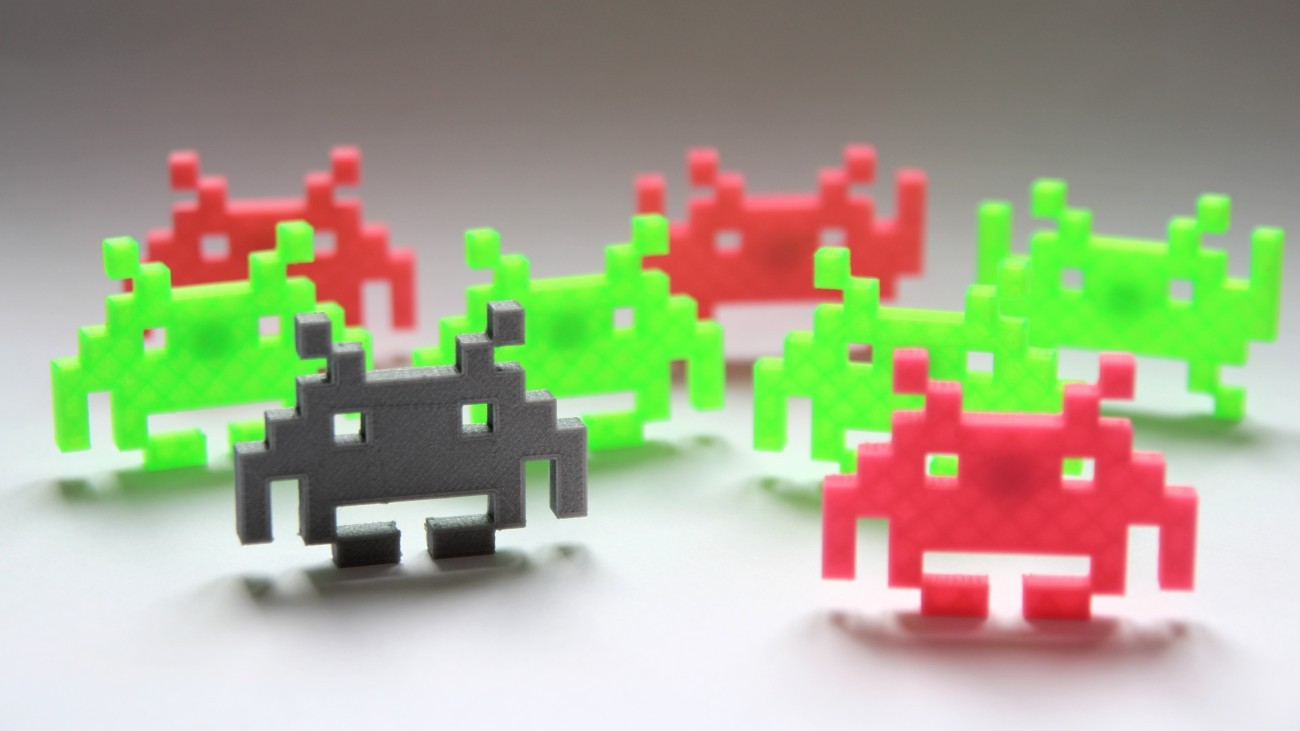 Lot de 4 magnets Space Invaders