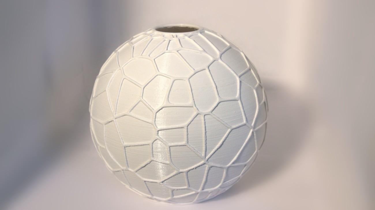 Abat jour Voronoi #1 - blanc