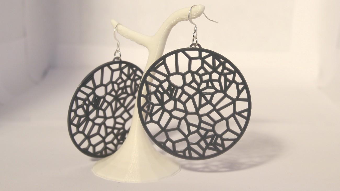 Boucles d'oreilles Corail Créole - grises