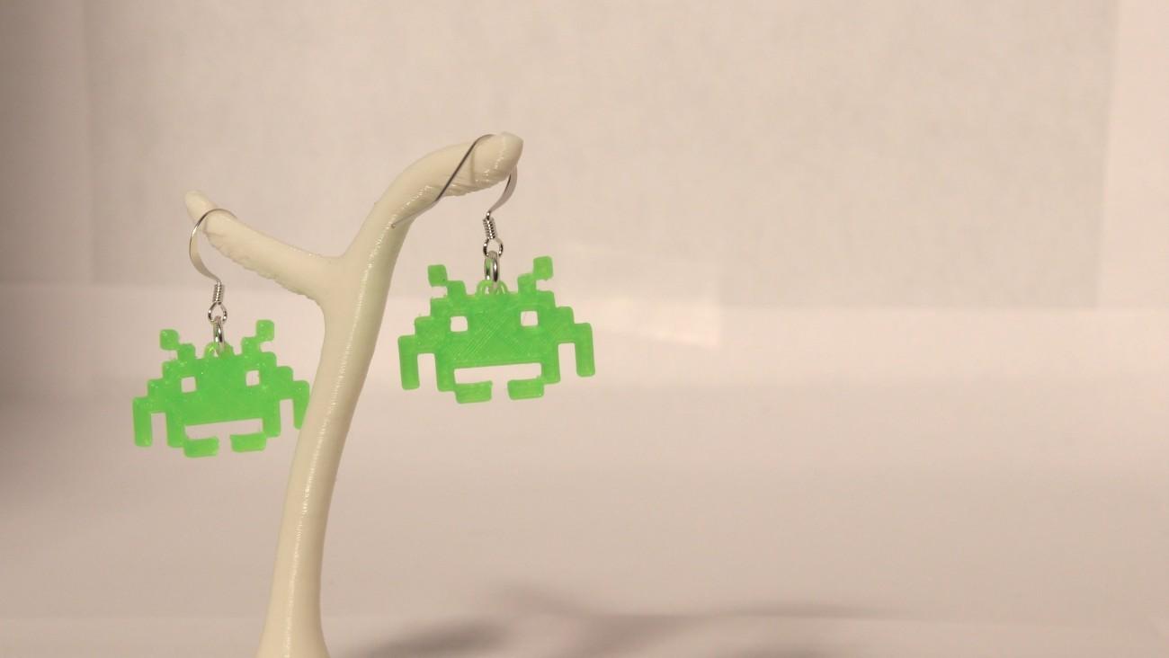 Boucles d'oreilles Invader 1.1 Vert