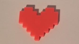 Magnet Coeur Pixels