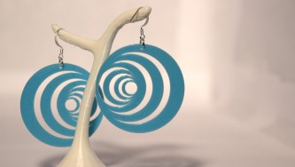 Boucles d'oreilles Optical Illusion #1 - bleu