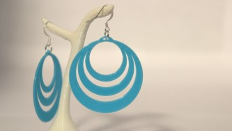 Boucles d'oreilles Optical Illusion #2 - bleu