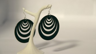 Boucles d'oreilles Optical Illusion #3 - noir
