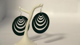 Boucles d'oreilles Optical Illusion #3 - noir